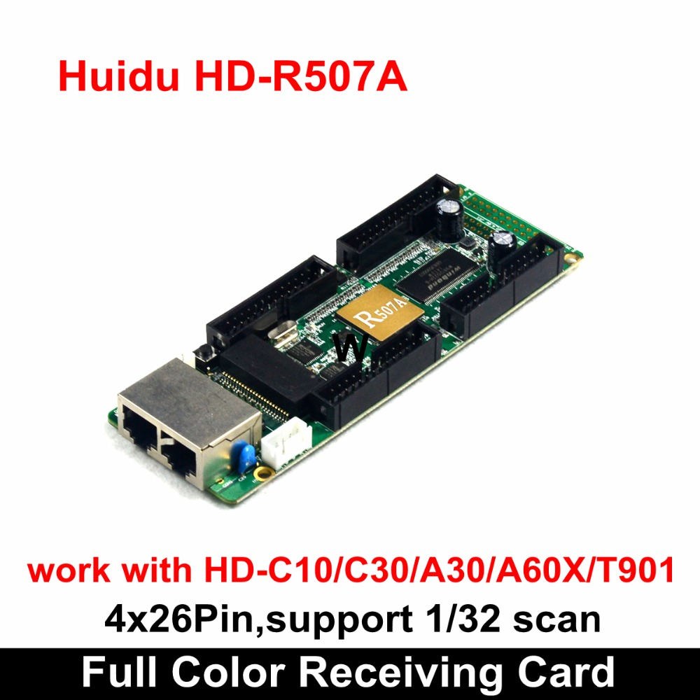 Huidu HD-R507A Small Pixel Pitch Full Color LED Video Wall Receiving Card 4x26 Pins , Compatiable With Normal P1.875 LED Module