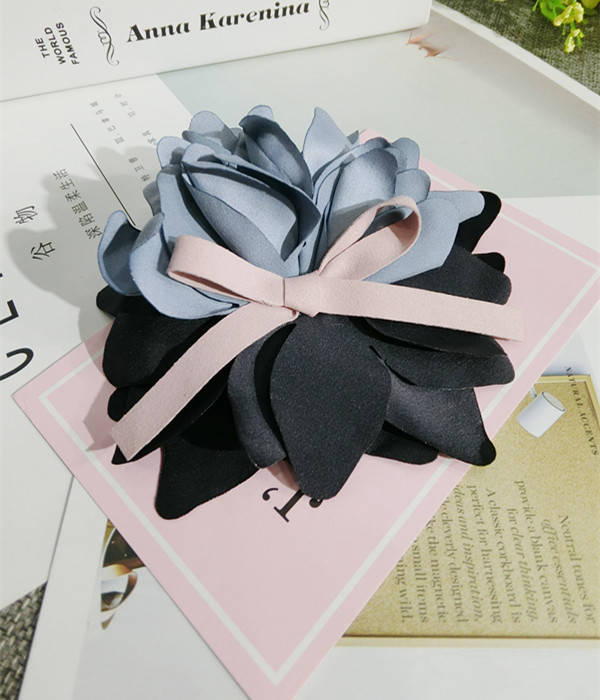 Korea Handmade Modern Bowknot Flower Brooches Pins Badges Fashion Jewelry For Girl Woman Suits Accessories JQGWBH019F in Brooches from Jewelry Accessories