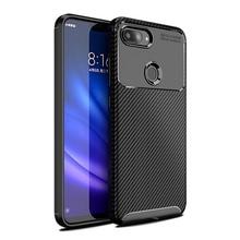 For Xiaomi Mi 8 Case Mi 8 Lite Max 3 Cover Luxury Carbon Fiber Silicone Phone Bag Business Shockproof Case For Xiaomi Mi 8 SE brushed texture carbon fiber shockproof tpu case for xiaomi mi 8 se black