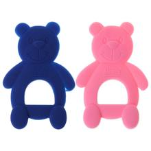 Baby Teether Bear Cute DIY Necklace Teething Massage Pain Relief Pacifier Newborn Orthodontic Oral Care Infants Nov-12A(China)