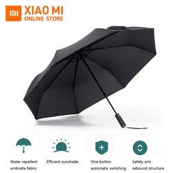 Original Xiaomi Mijia Automatic Sunny Rainy Bumbershoot Aluminum Windproof Waterproof UVParasol Man woman Summer Winter Sunshade