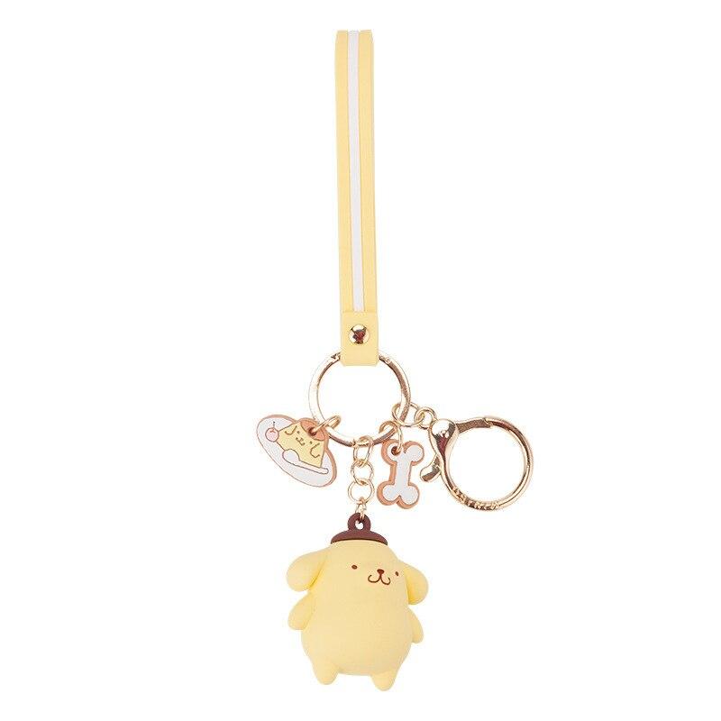 Милые Мультяшные брелки с кошкой hello kitty для женщин и девочек, брелки для ключей, аксессуары, подвеска для автомобиля, новинка - Цвет: Белый
