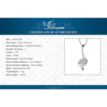 Elegant 0.45ct Cubic Zirconia Pendant Necklace 925 Sterling Silver Fashion Gift for Friend Without Chain