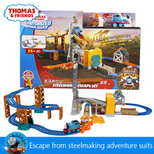 Original Thomas and Friend Electrical Orbital Escape Iron Steel Factory Diecast Train Set Children Educational Boys Toys
