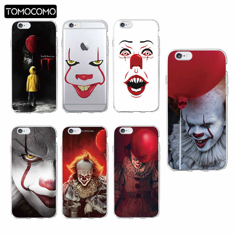 Pennywise Clown Float Het Cartoon Comic Soft Clear Phone Case Cover Fundas Coque Voor iPhone 11 Pro 7 7Plus 6S 8 8PLUS X XS Max