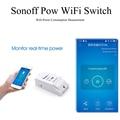 Pow Sonoff Wi-fi Sem Fio Interruptor ON/Off 16A Com Medição do Consumo De Energia Para Eletrodomésticos IOS Android Remoto