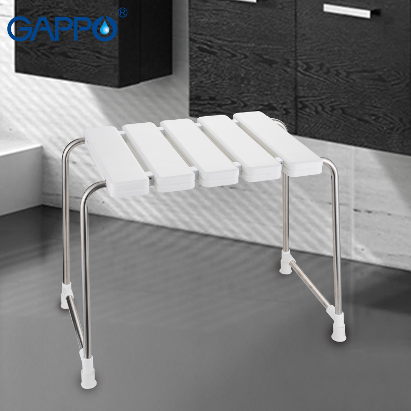 GAPPO Wall Mounted Shower Seats bathroom stool Folding shower seat Spa Bench Saving Space Bathroom folding bath chair           GAPPO Wall Mounted Shower Seats bathroom stool Folding shower seat Spa Bench Saving Space Bathroom folding bath chair