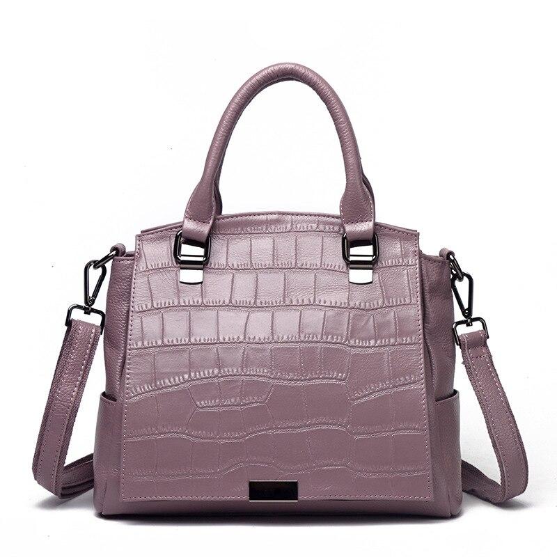 New crocodile pattern handbag leather shoulder bag woman fashion diagonal leather bags qiaobao 2018 new korean fashion leather handbag trend of women s shoulder bag diagonal cross flow totes