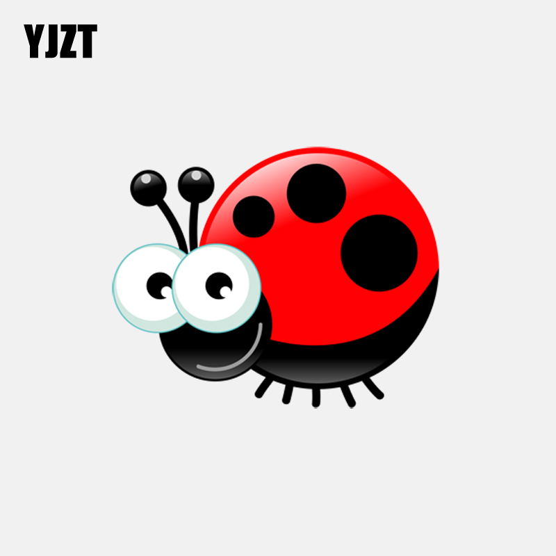RED BLACK LADYBUG VINYL STICKERS window sticker removable car vehicle auto decal