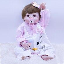 55cm novo bebê reborn ken boneca todo o silicone verdadeiro toque em roupas de gato dos desenhos animados princesa bebe reborn menina brinquedos lol bonecas surpresa