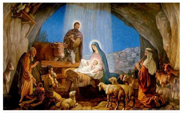 Customized 3d Wallpaper Wall Murals The Birth Of Jesus