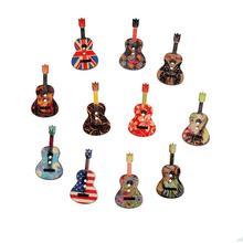 50 шт. 2 отверстия печатных гитары деревянные кнопки для рукоделия Скрапбукинг одежда декоративные пуговицы для шитья 26*18 мм
