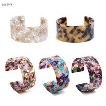 Acrylic Tortoise Shell Wide Brown Cuff Bracelet Leopard Print Fashion Jewelry