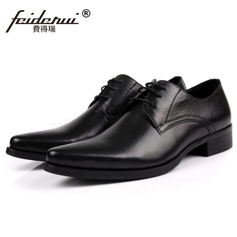 Italian Style Pointed Toe Man Formal Dress Shoes Luxury Brand Genuine Leather Male Oxfords Men's Wedding Bridal Flats JD94 0 150mm outside micrometer 6pcs set graduation 0 01mm precision measure tool