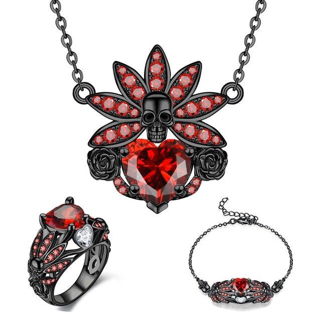 Skull Set Necklace Bracelet...
