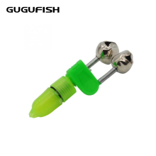 GUGUFISH 10 Pieces/Lot Luminous Sea Fishing Feeder Fishing Bell Twin Rod Tip Fish Bell Alarm Fishing Tackle Length 50mm