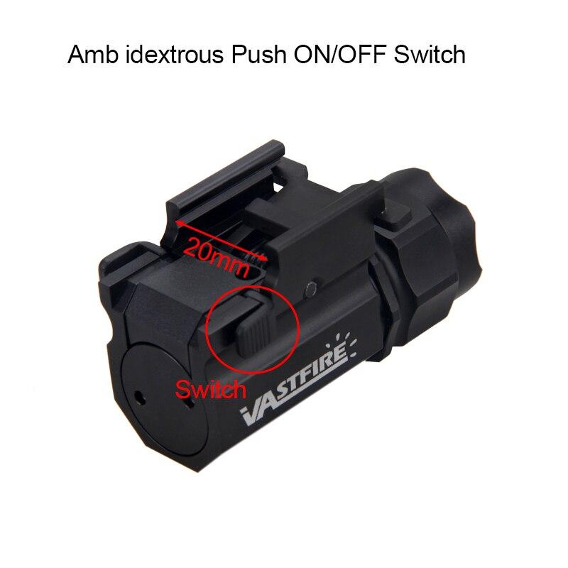 Airsoft pistola luz qd rápida destacam arma