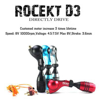 One New Arrival Rocket D3 Rotary Tattoo Machine Gun With Free Cartridge Grip Clip Cord Supply RTM28