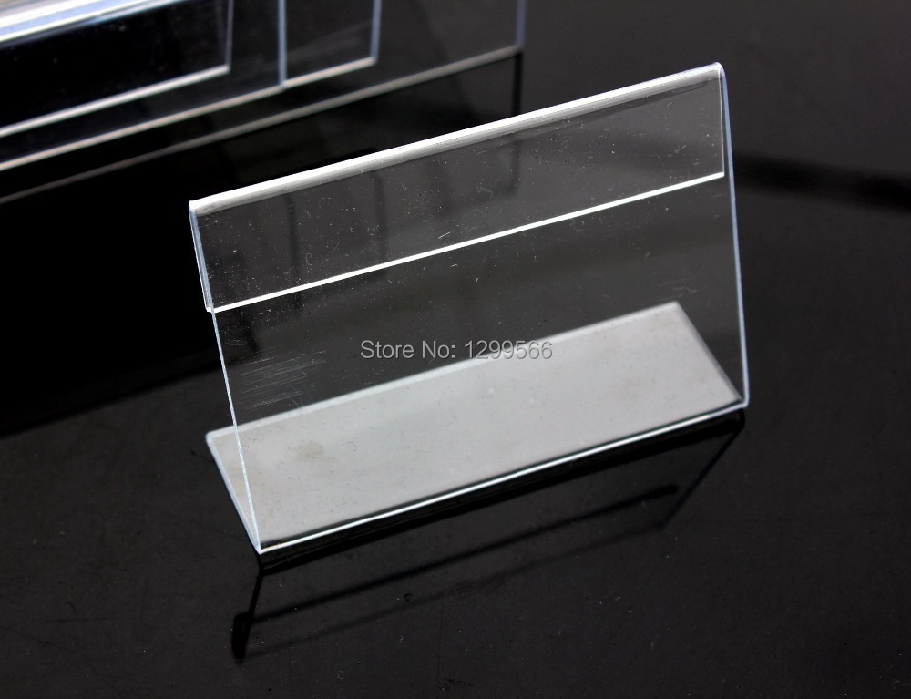 free shipping clear acrylic name table card price tag advertisement