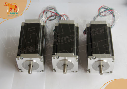 (Germany Ship, No Tax) 3 PCS High Nema 23 wantai Stepper Motor 425oz-in, 2 phase, WT57STH115-4204A CNC Mill Cut Engraver