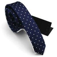 High Quality 2019 New Arrivals Slim Ties for Men Little Polka Dot 4cm Brand Commercial Neckties Men's Skinny Tie Gift Box SALE