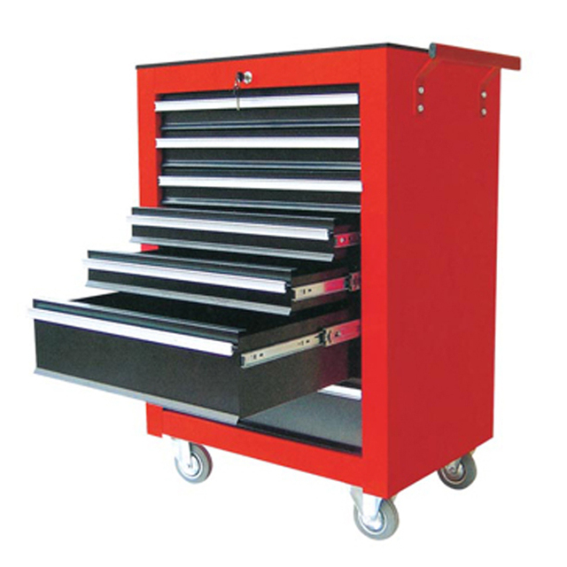 Seven Metal Tool Cabinet Toolbox Trolley Car Three Drawer Tool Cabinet  Aftermarket Mobile Tool Cart