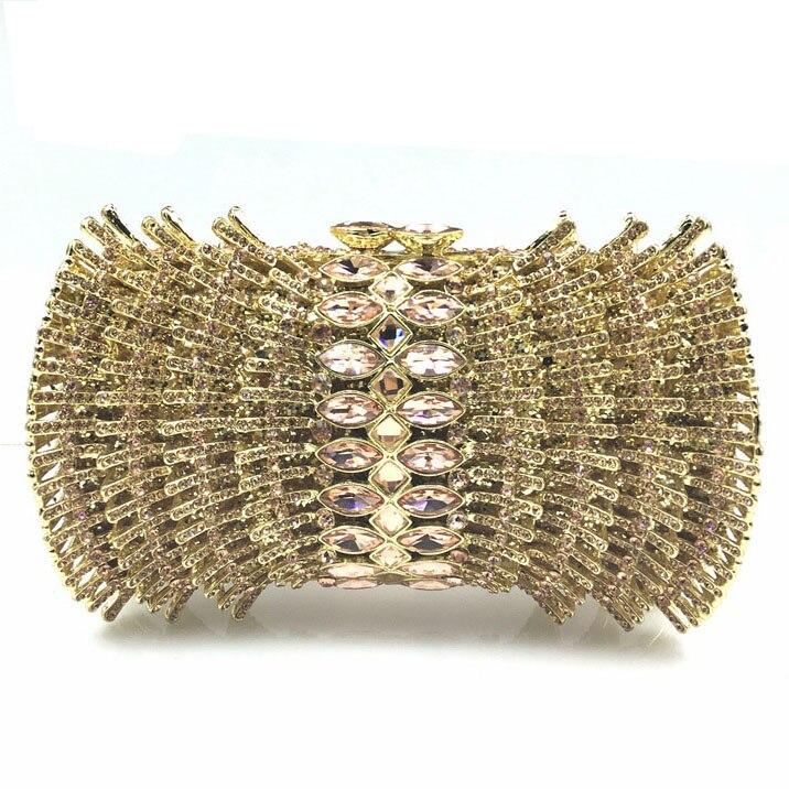 ФОТО Full Rhinestone Evening Clutch Bag Bling Women Big Gem Purse Hollow Out Crystal Handbag Makeup Bag Rhinestone Clutch Bag