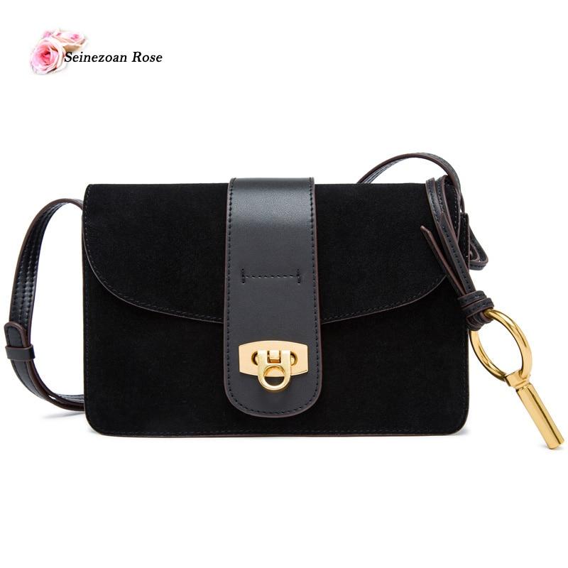 ФОТО 2017 Vintage Genuine Leather Women's Flap Handbags Small Women Shoulder Messenger Bags Ladies Scrubs Leather Bags