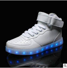 2016 Women's luminous shoes Colorful glowing shoes with lights up led fashion USB rechargeable light led shoes High Quality