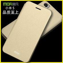Mi5 Оригинал MOFI Руи Книга Стиль Тонкий кожаный чехол Для Xiaomi 5 M5 Mi5 откидная крышка Смартфона мешок с подставкой MF01
