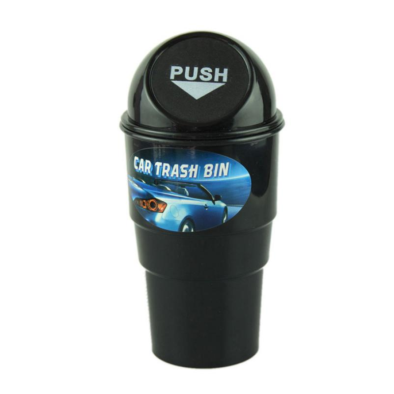 New Qualified Storage Delicate Car garbage can vehicle Trash Can Garbage Dust Case Holder Bin Hot Selling Free Shipping