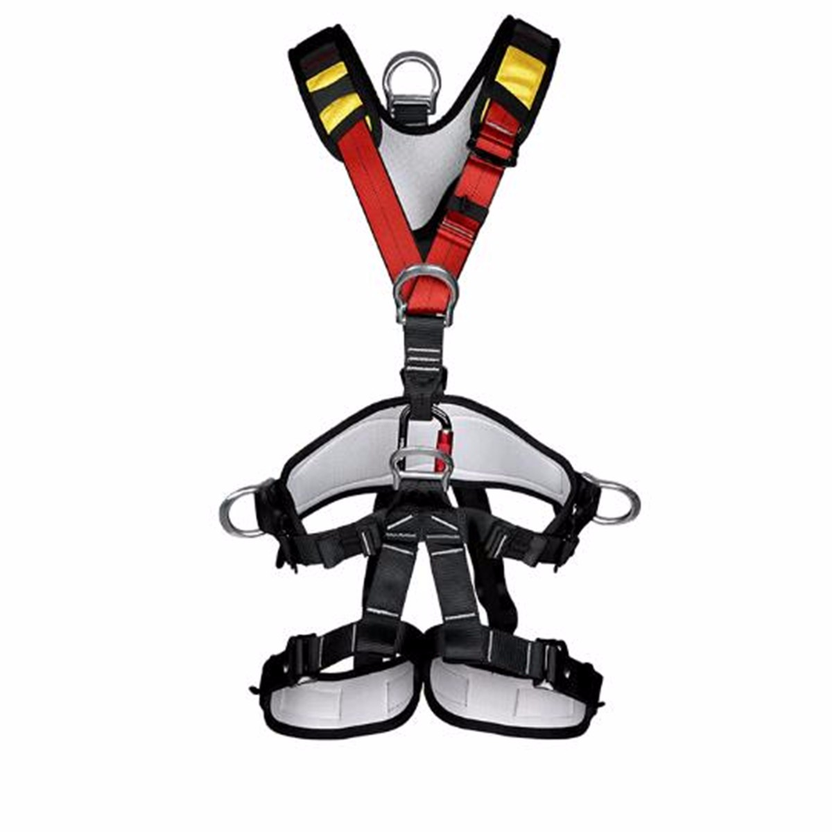 Safurance Outdoor Rappelling Full Body Safety Harness Wearing Seat Belt Sitting Bust Protection Gear Workplace Safety miller titan by honeywell ac qc xsbl aircore full body harness x small blue