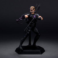 19cm Marvel Avengers 2 Super Hero Hawkeye Anime Action Figure Shield Model Toy Brinquedos Juguetes Kids Toys For Boys