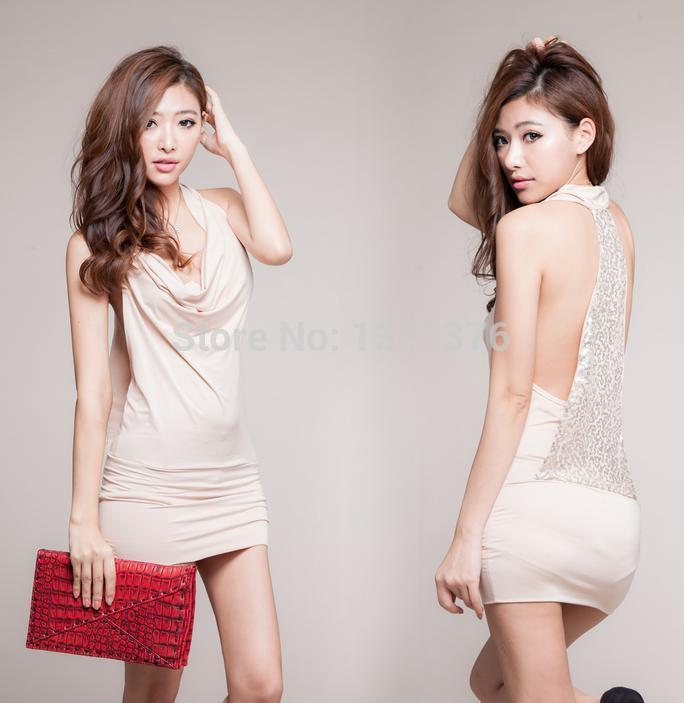 Lingerie Nightwear Sequins sexy nightclub tight halter dress game uniforms lingerie costumes nightdress 40111