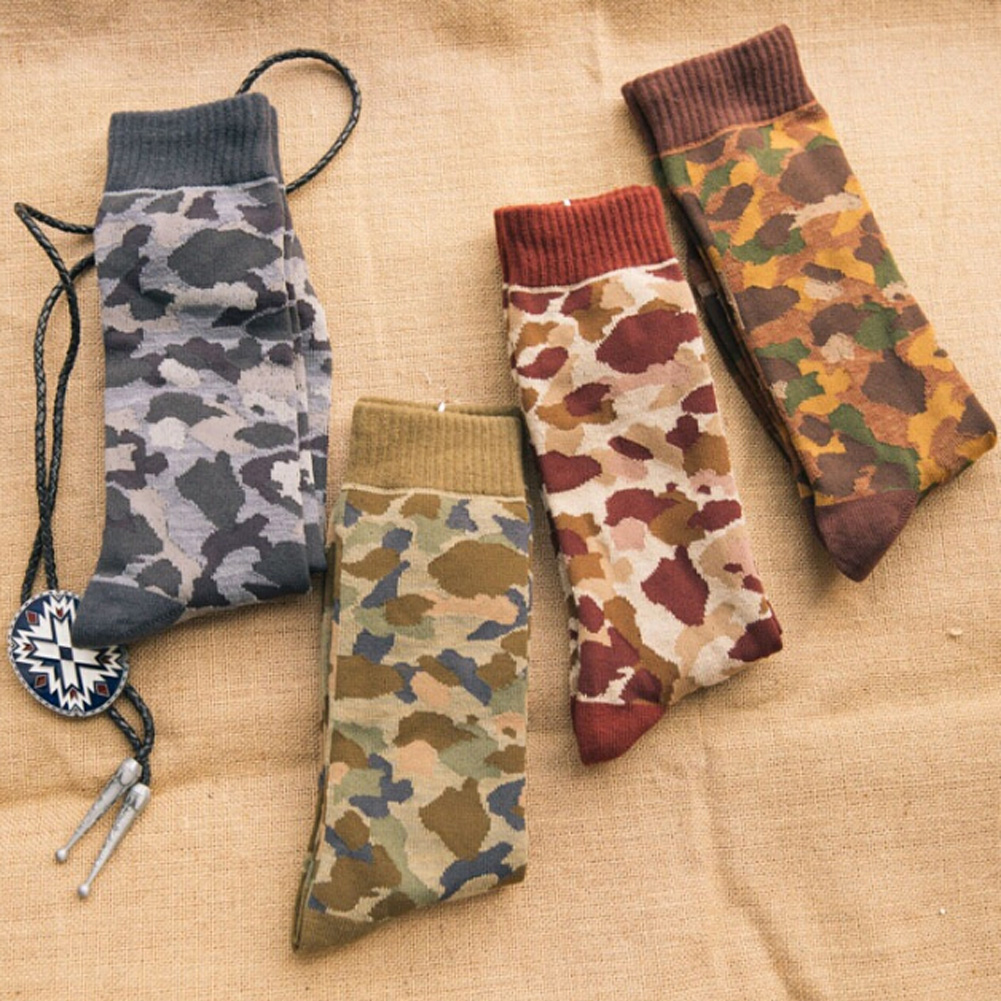 New Chic Mori Retro Long Barrel And Camouflage Socks Shawn Yue Street Dead Bape Tide Socks 7colors ...