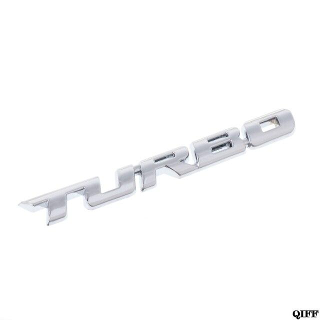 Navio da gota Por Atacado & 3D Turbo Carta Emblema Emblema do Metal Etiqueta Chrome Para Truck Car Motor Decalque May06