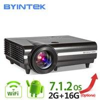 BYINTEK MOON BT96Plus Android Wifi Smart светодиодный видео светодиодный проектор Proyector для домашнего кинотеатра Full HD 1080 P поддержка 4 к онлайн видео