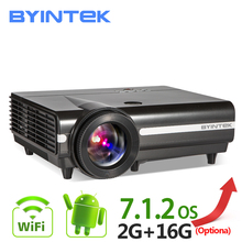 BYINTEK KSIĘŻYC BT96Plus Android Wifi Inteligentne Wideo LED Projektora Proyector Dla Kina domowego Full HD 1080 p Wsparcie 4 k wideo Online(China)