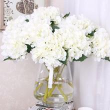 Artificial Flowers Hydrangea Bouquet for Wedding Party Home Decoration Floral Silk Flower Bridal Bouquet 4colors silk peony rose hybrid bouquet artificial flower bridal bouquet wedding decoration diy home party