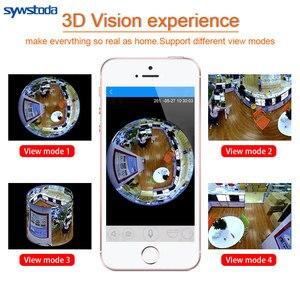 Image 4 - Led ライト 960 720p ワイヤレスパノラマホームセキュリティ無線 Lan Cctv 電球ランプ IP カメラ 360 度ナイトビジョン