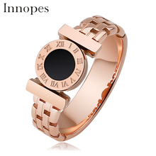 Innopes 2019 fashion roman numerals watch Hollow ring rose gold bijou birthday party gift for girl men Luxury jewelry