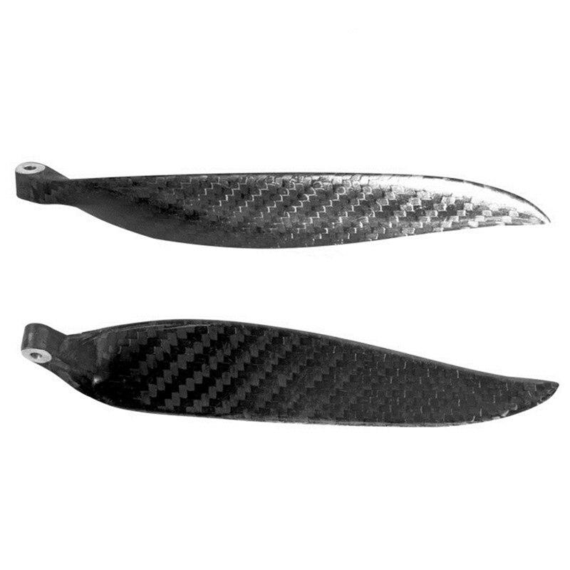 9.5x5,10x6,11x6,11x8,12x6,13x7,13x8,14x8 2 Folha de Carbono fibra folding hélice Para Avião RC Adereços modelo de asa Fixa RC modelo