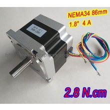 FREE SHIPPING  stepper motor 34HS27-4004S L 68 mm Nema34 with 1.8 deg 4 A 2.8 N.cm and wire