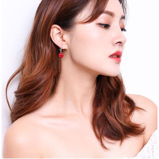 Imitation Pearl Dangle Earrings 4