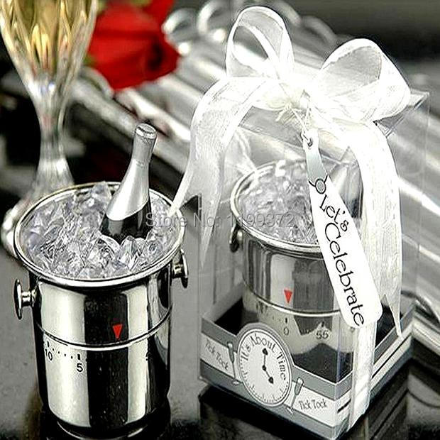 200pcs Mini Champagne Ice Bucket Kitchen Timer Timers Wedding Party