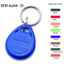10pcs per lot ABS RFID Keyfob 2# tk4100 chip read only id/ic key card 125khz keychain token em4200 em4100