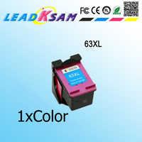 1 cartucho de tinta de color compatible con hp63 63xl DeskJet 1112/2130/2132/3630/3632/Office ejet 3830/4650/465