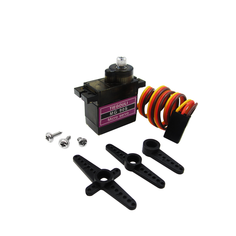10pcs MG90S Metal gear Digital 9g Servo For Rc Helicopter plane boat car MG90 90S 9G IN STOCK mg90s metal geared micro servo for plane helicopter car boat red orange black
