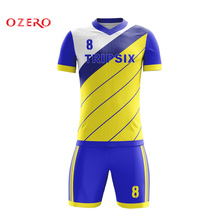 3c37589094f men football clothes men soccer jerseys adult blank trainning soccer kits  sportswear sets(China)