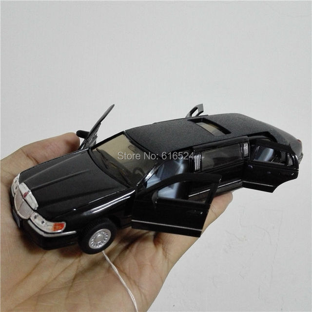 7'' DieCast Metal * Doors Openable * Pull Back Action 1999 Lincoln Town Car Stretch Limousine 1:38 Alloy Kinsmart model cars toy